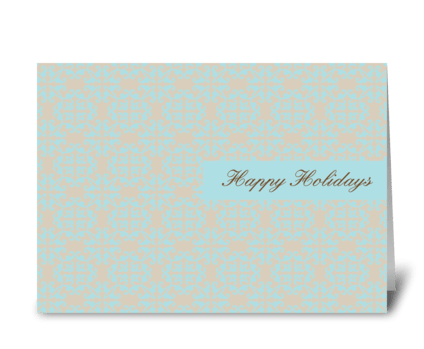 Wallpaper Holidays greeting card