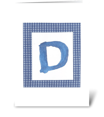 D - Baby Boy greeting card