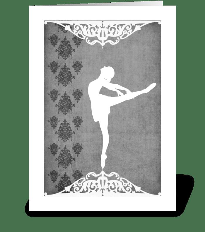 Ballet Series 2 greeting card