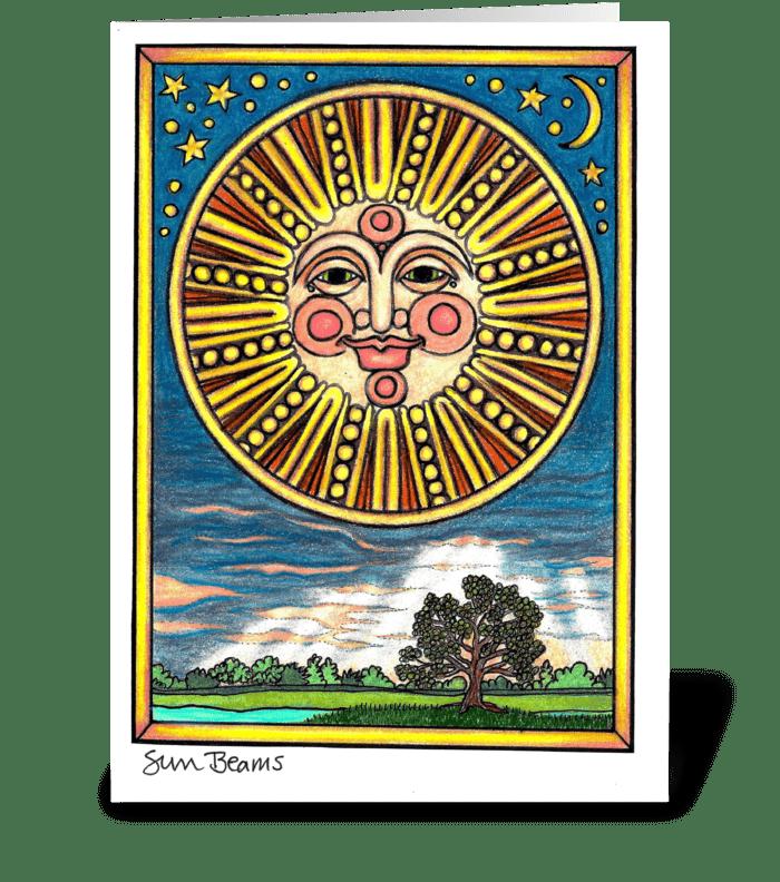 Sun Beams #2 greeting card