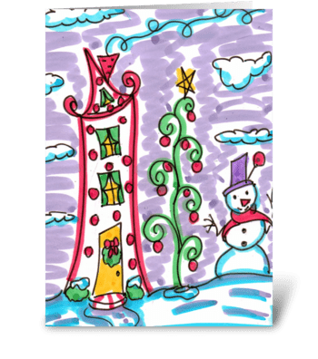 Christmas House greeting card