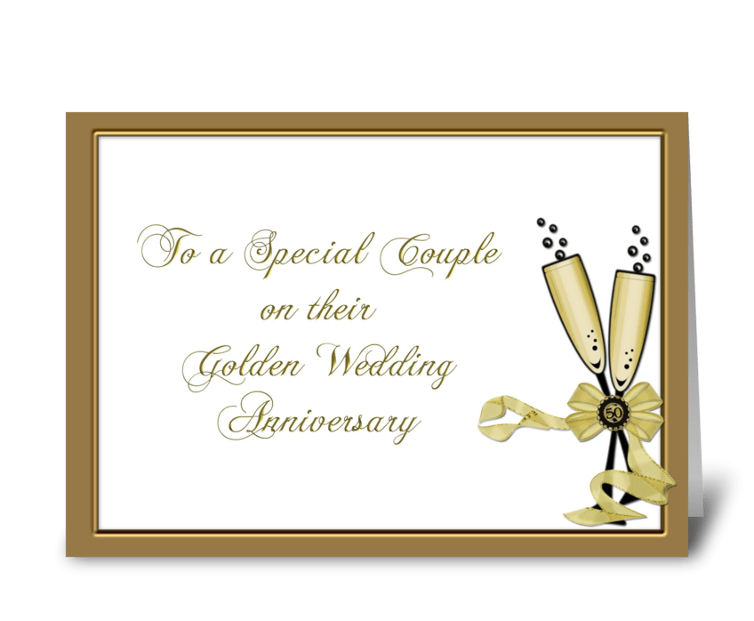Congrats 50th Anniversary, Champagne  greeting card