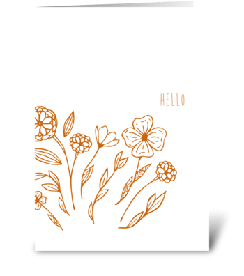 botanical whimsy greeting card