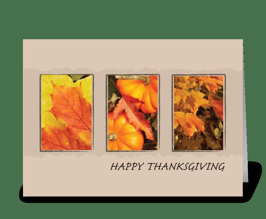 2801 Three Leave Thanksgiving greeting card
