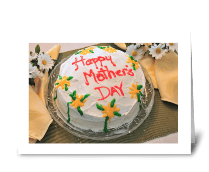 Mother's Day Cake greeting card