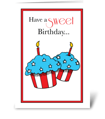 Birthday on Veterans Day Patriotic greeting card