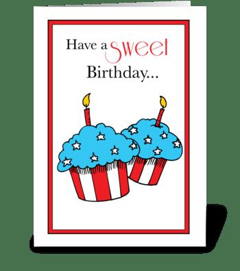 Birthday on Veterans Day Patriotic greeting card