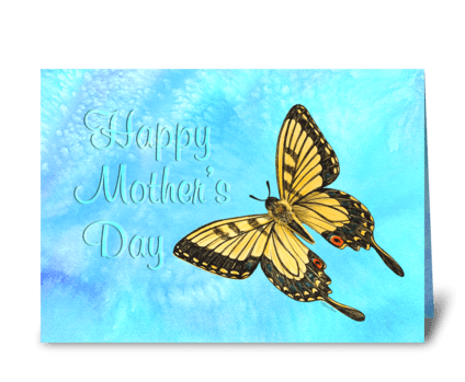 Mother's DAy - Butterfly greeting card
