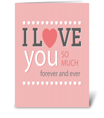 I love you card greeting card