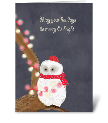 Merry Owl greeting card