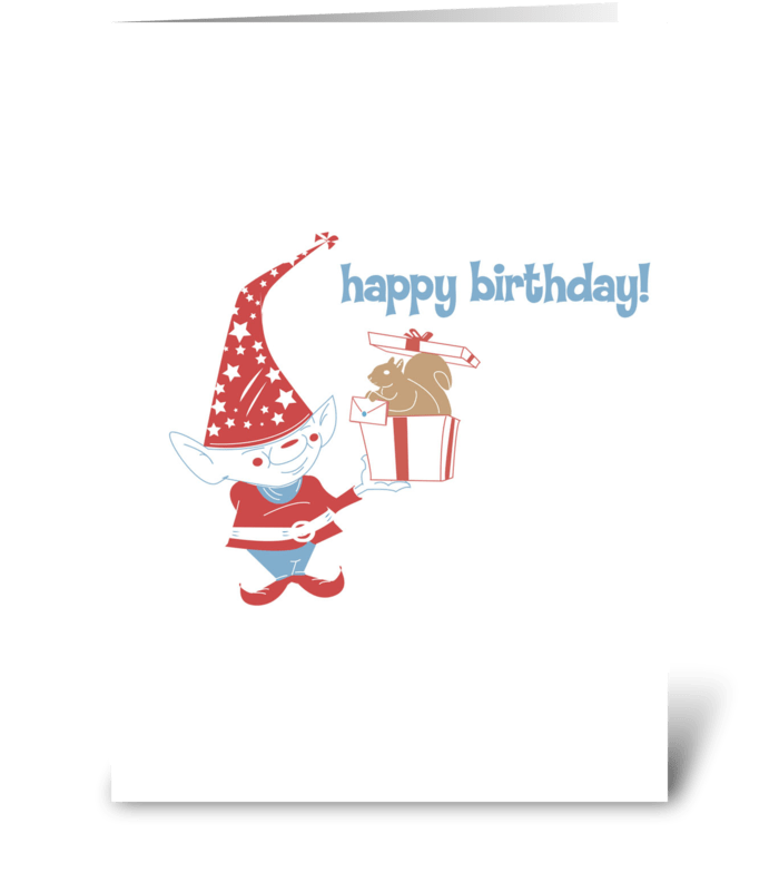 Gnome Birthday Surprise! greeting card