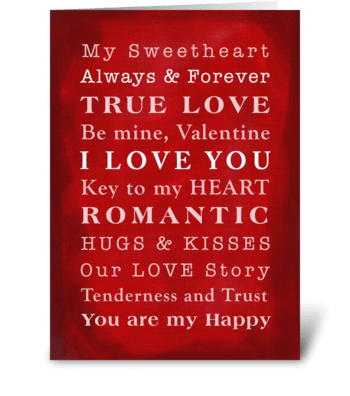 Our Love Story, Valentine Card greeting card