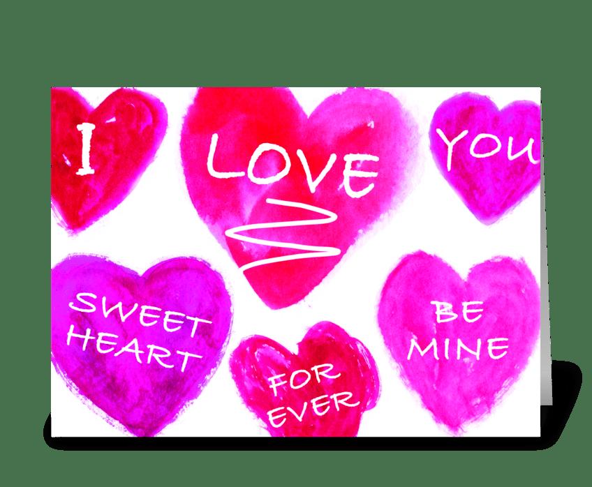Sweet Hearts greeting card