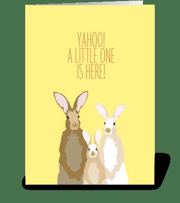 Baby Rabbit greeting card