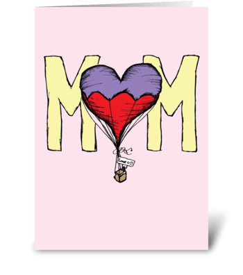 Mom Balloon greeting card