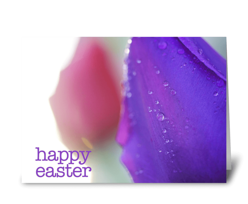 Happy Easter (Purple Tulip) greeting card