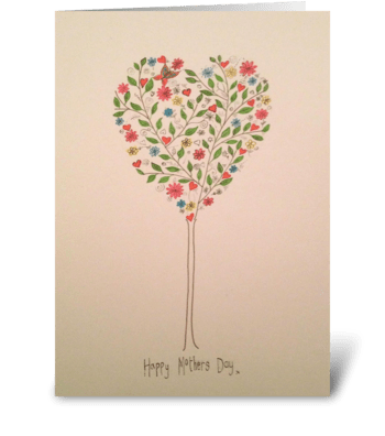 Mothers Love Tree greeting card
