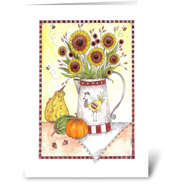 Fall Harvest Sunflowers greeting card