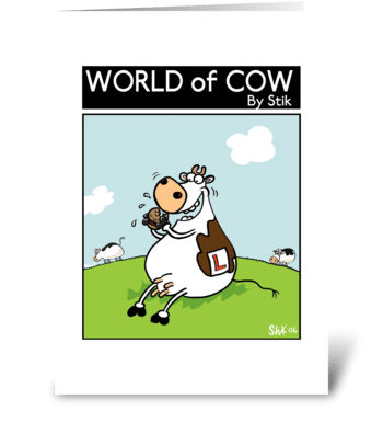 Learner Cow greeting card