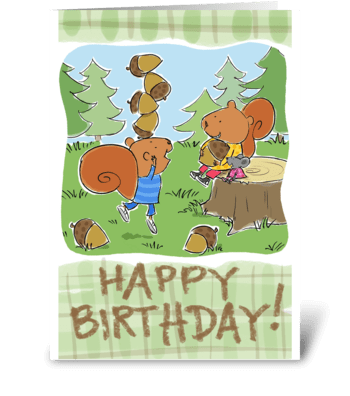 Birthday Nut greeting card