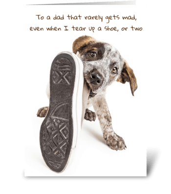 Puppy Dog Dad Greeting Card greeting card