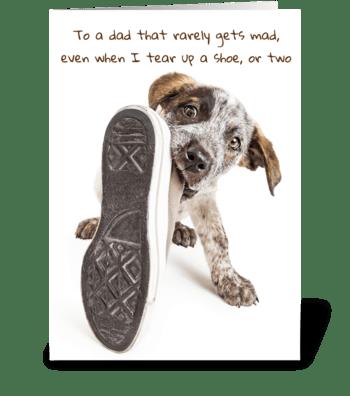 Puppy Dog Dad Greeting Card greeting card