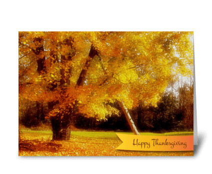 Thanksgiving Autumn Foliage greeting card