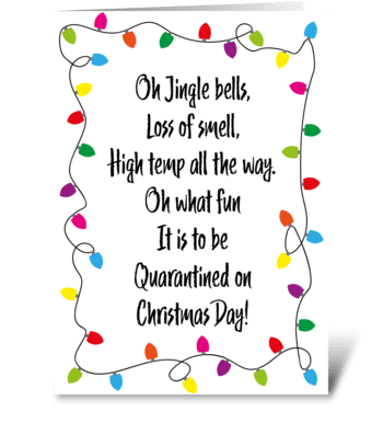 75 Jingle Quarantined Christmas greeting card