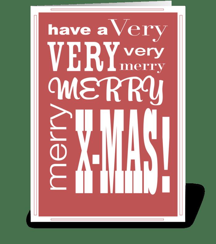 XMAS type greeting card