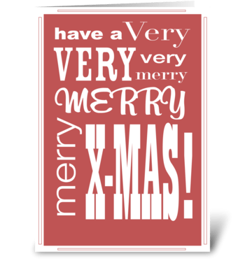 XMAS type greeting card