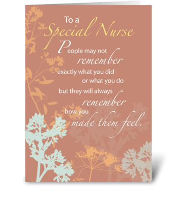 Thank You Nurse greeting card