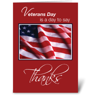 Veterans Day Patriotic American Flag greeting card