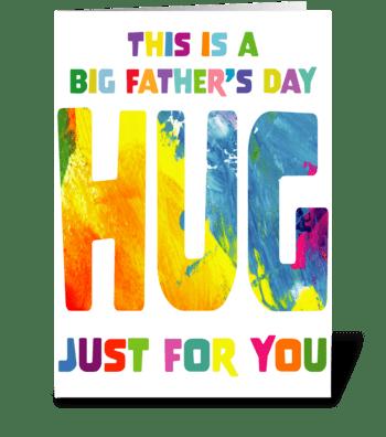 141 Big Hug Father's Day greeting card