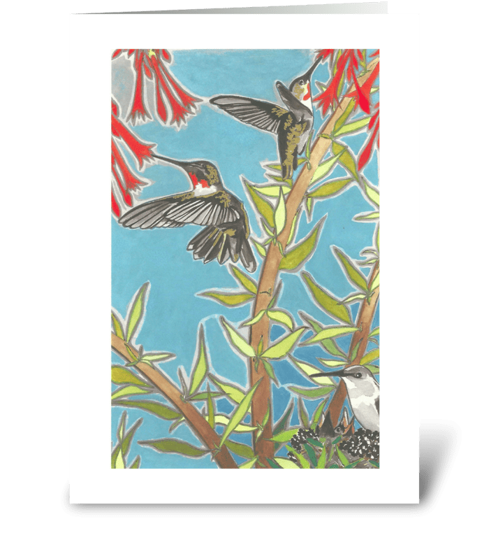 Heather's Hummingbirds greeting card