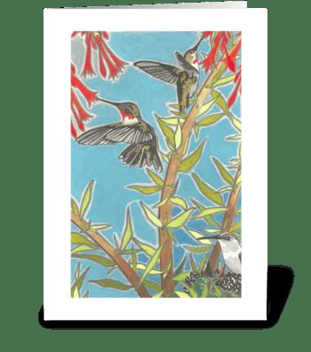 Heather's Hummingbirds greeting card