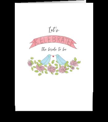 bird banner greeting card