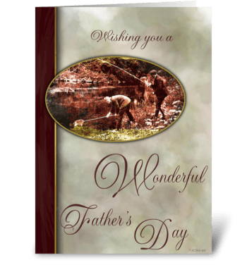 Father's Day of the Past greeting card
