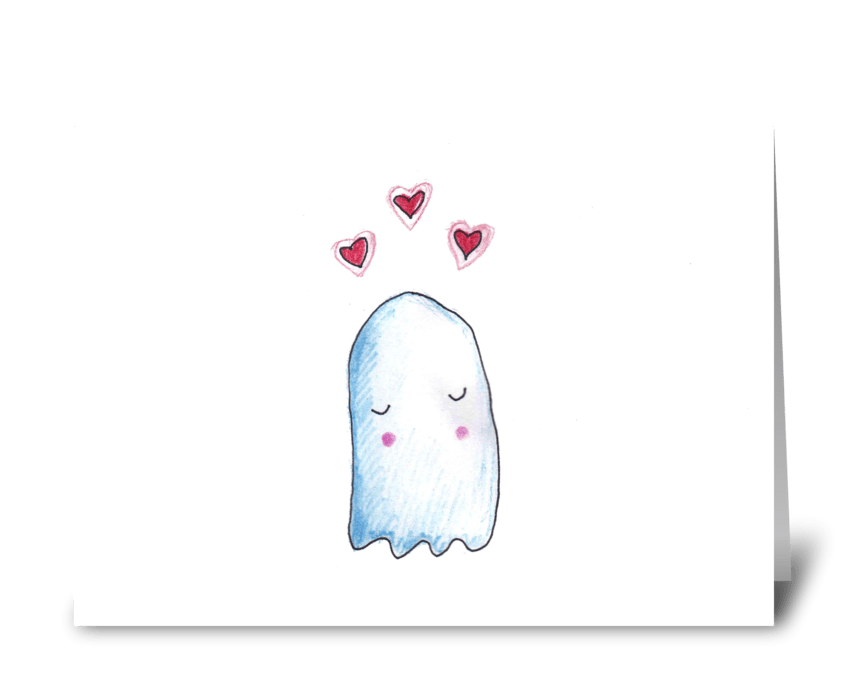 Boo's in Love greeting card