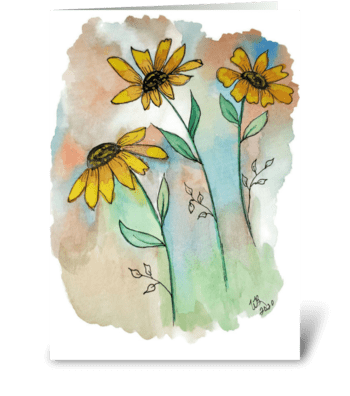 Watercolor Floral All Occasion Card greeting card