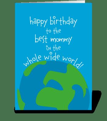 125 Best Mommy Birthday greeting card