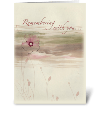 Landscape Flower Sympathy greeting card