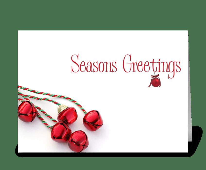 Seasons Greetings Bells greeting card