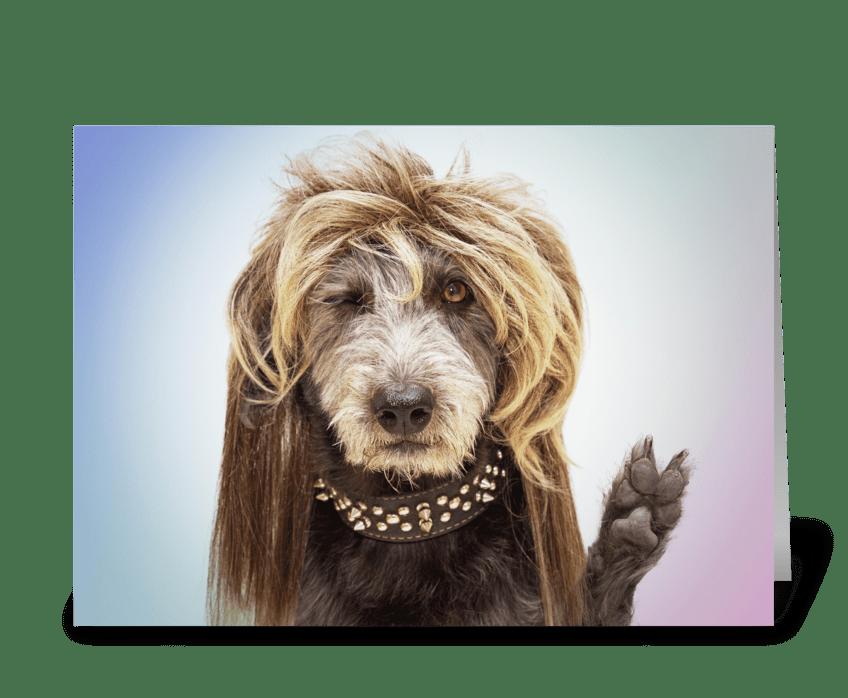 Funny Hippy Dog Healing Greeting greeting card