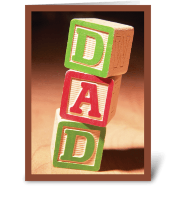 Father's Day, Young Children Blocks greeting card