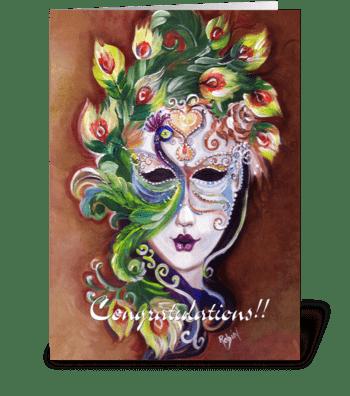 Festive Congratulations Card greeting card