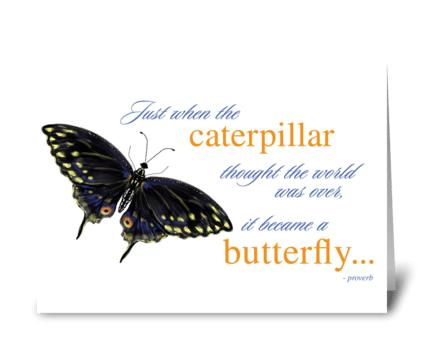 Butterfly Inspirational Card greeting card