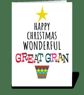 92 Great Gran Christmas Tree greeting card