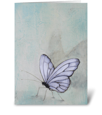 tall butterfly greeting card