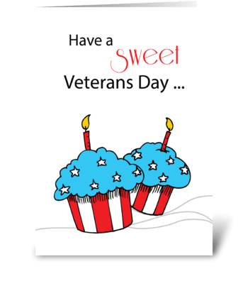 Veterans Day Patriotic Cupcakes greeting card