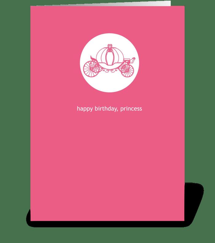 A Princess Birthday greeting card